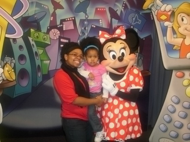 Meeting Minnie at Disney