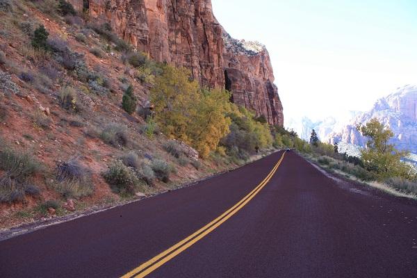 mountain road travel