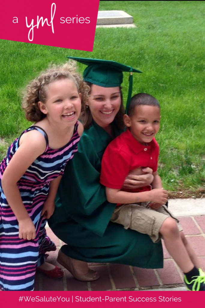 Angeline Palmer, mother of two, is a recent graduate of George Mason University | Read more student-parent success stories at TheYoungMommyLife.com