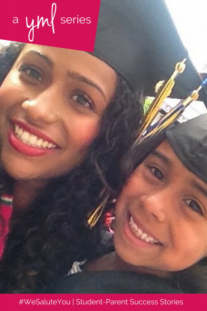 Julissa Muniz, mother of one, is a recent graduate of University of California, Berkeley | See more student-parent success stories at TheYoungMommyLife.com