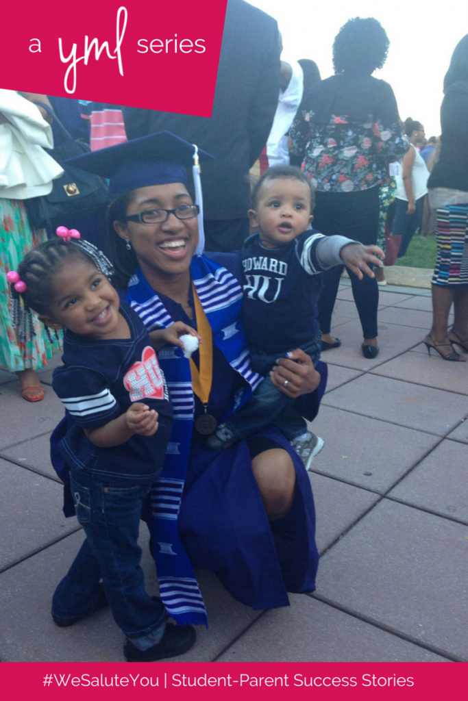 Kenedra Burton, a mother of two, is a recent graduate of Howard University | See more student-parent success stories at TheYoungMommyLife.com