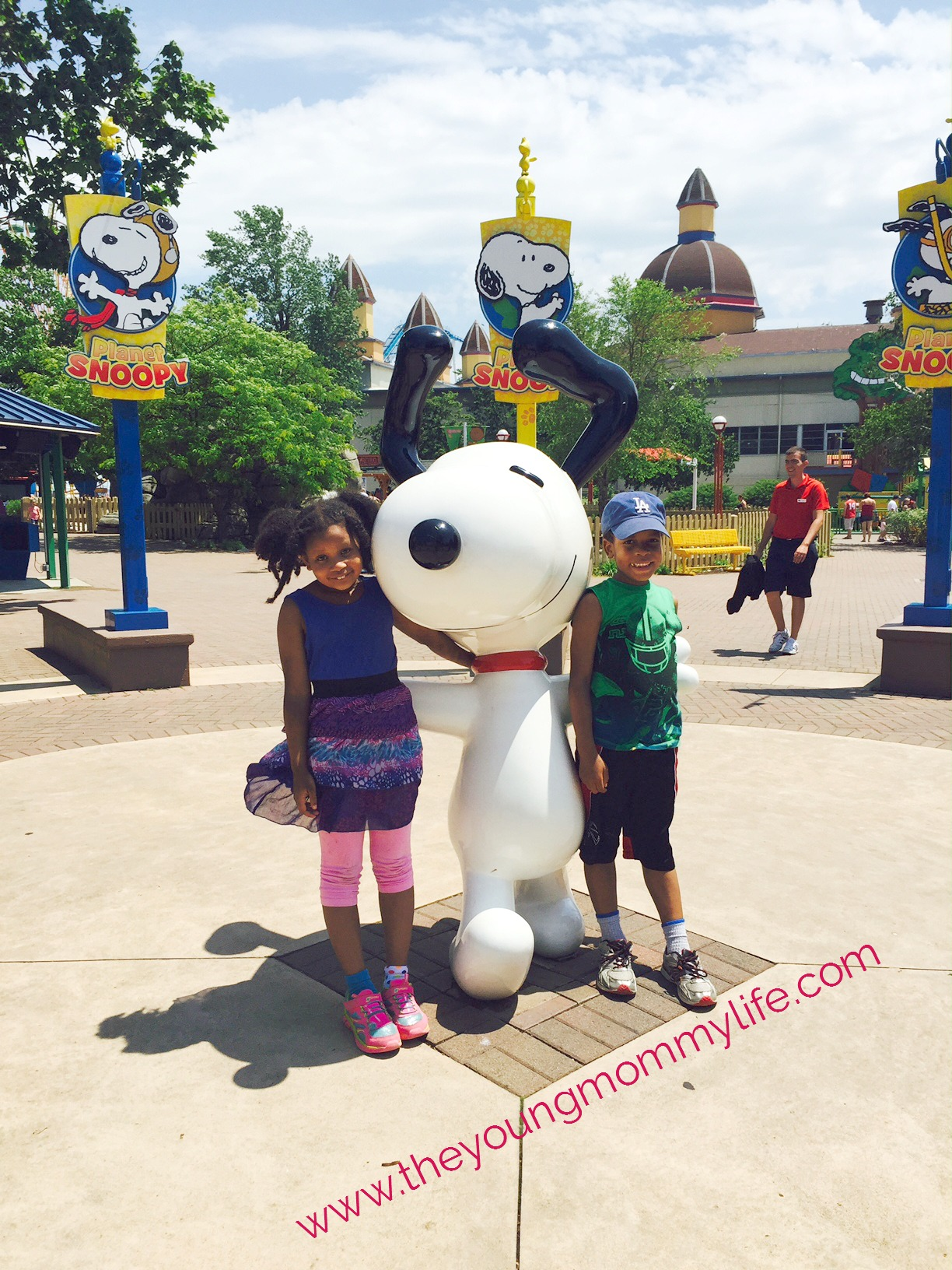 The Jefferson kids at Planet Snoopy, one of three designated kids areas at Cedar Point