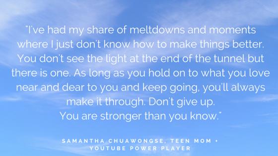 SHE INSPIRES - Samantha advice