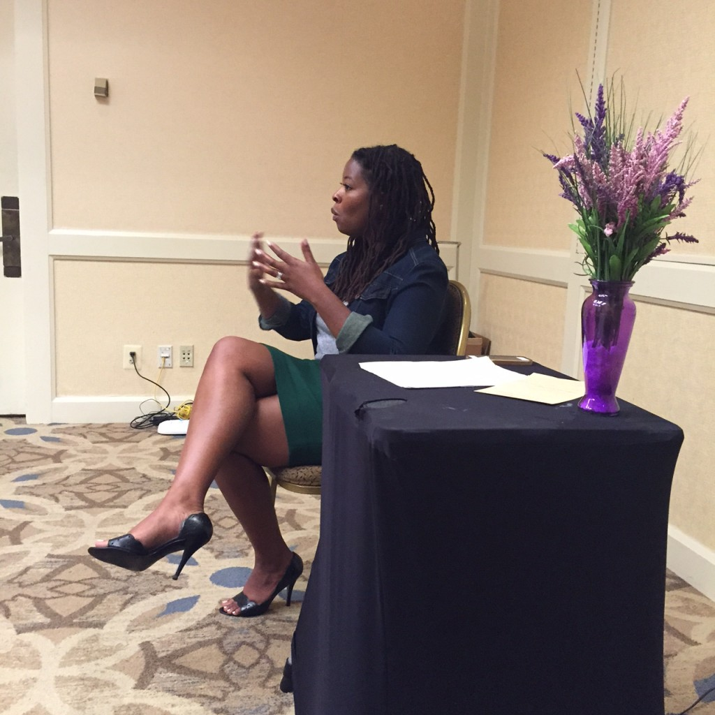 Esther Boykin speaking at the 2015 Self-Care Retreat